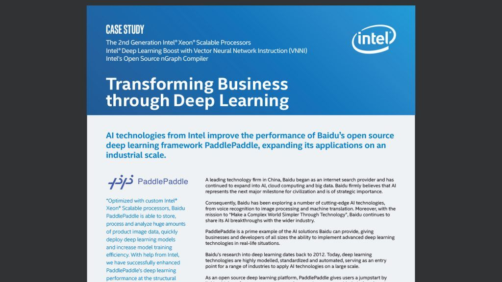 Transforming Business through Deep Learning