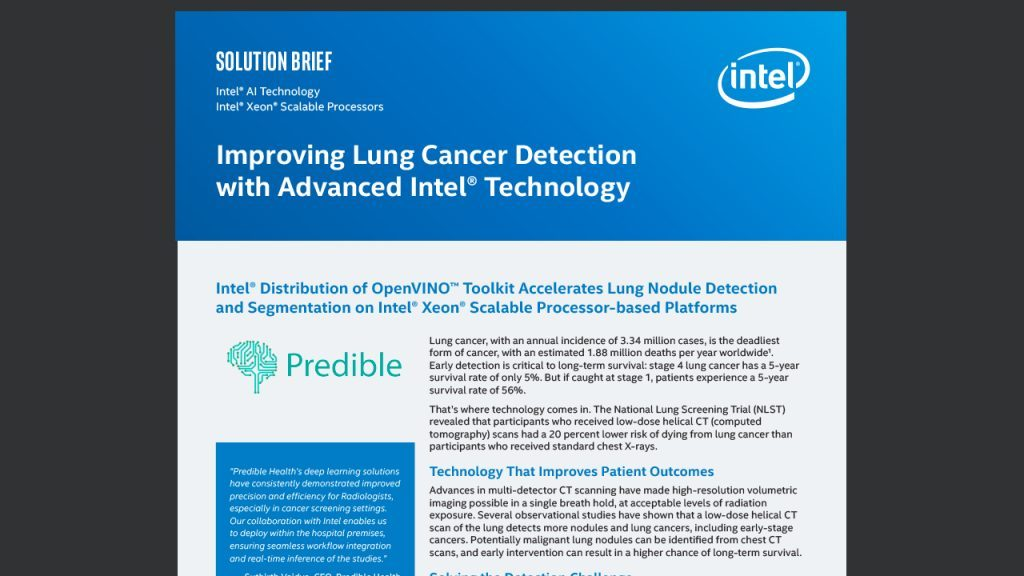 Improving Lung Cancer Detection with Advanced Intel® Technology