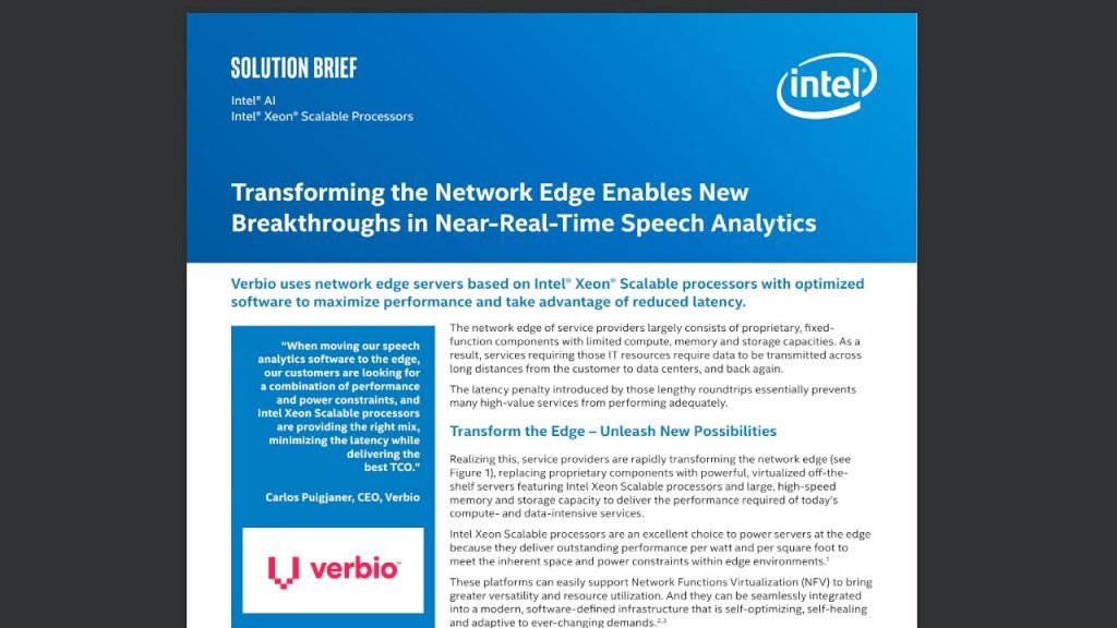 Transforming the Network Edge Enables New Breakthroughs in Near-Real-Time Speech Analytics