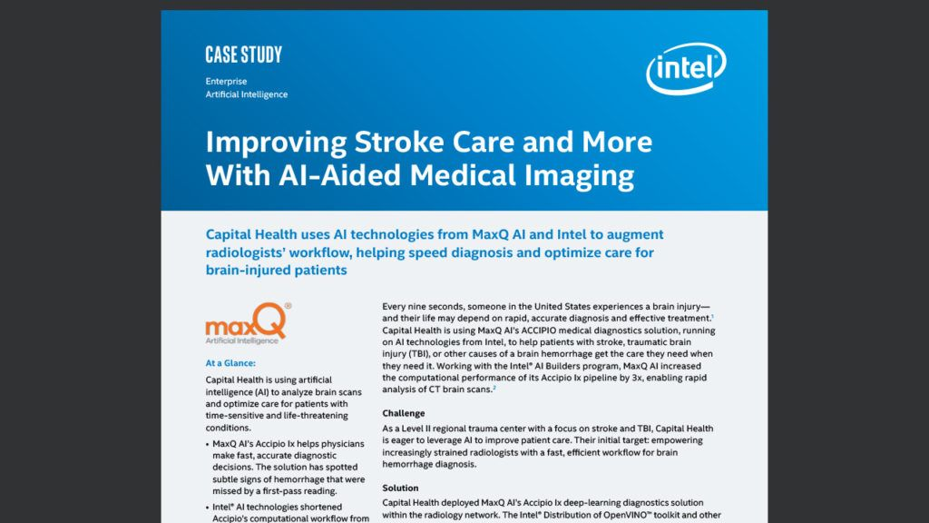 Improving Stroke Care and More With AI-Aided Medical Imaging
