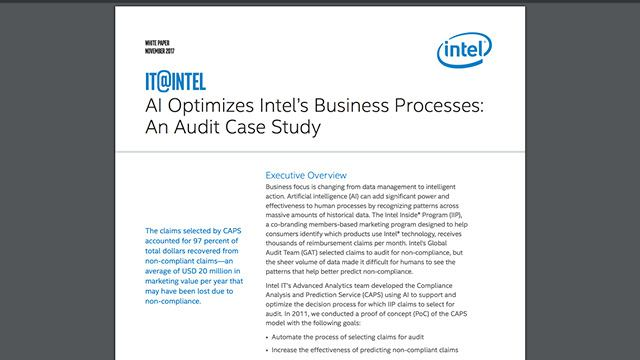 AI Optimizes Intel's Business Processes: An Audit Case Study