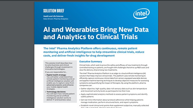 AI and Wearables Bring New Data and Analytics to Clinical Trials