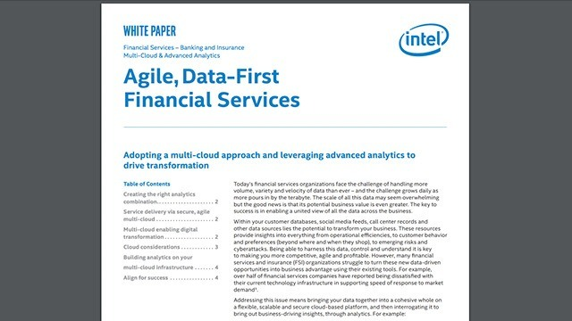 Agile, Data-First Financial Services
