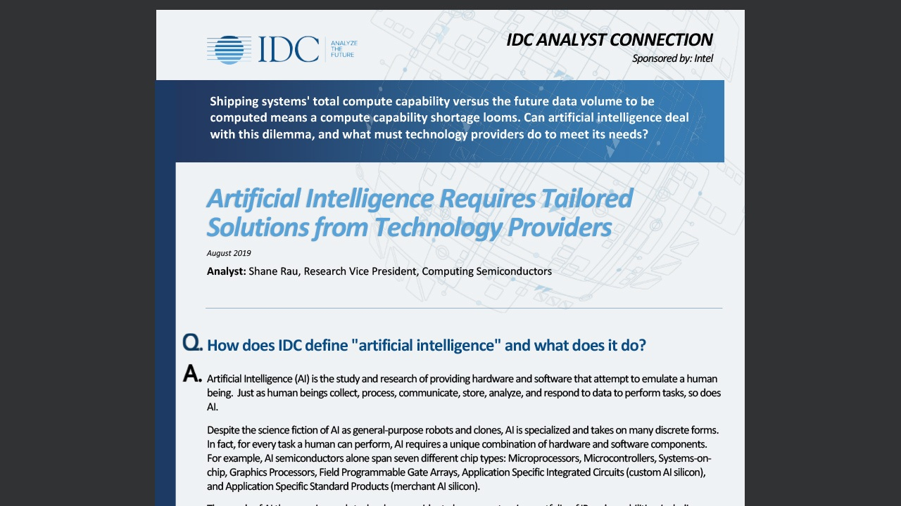 You can see the full IDC report (commissioned by Intel) by clicking here