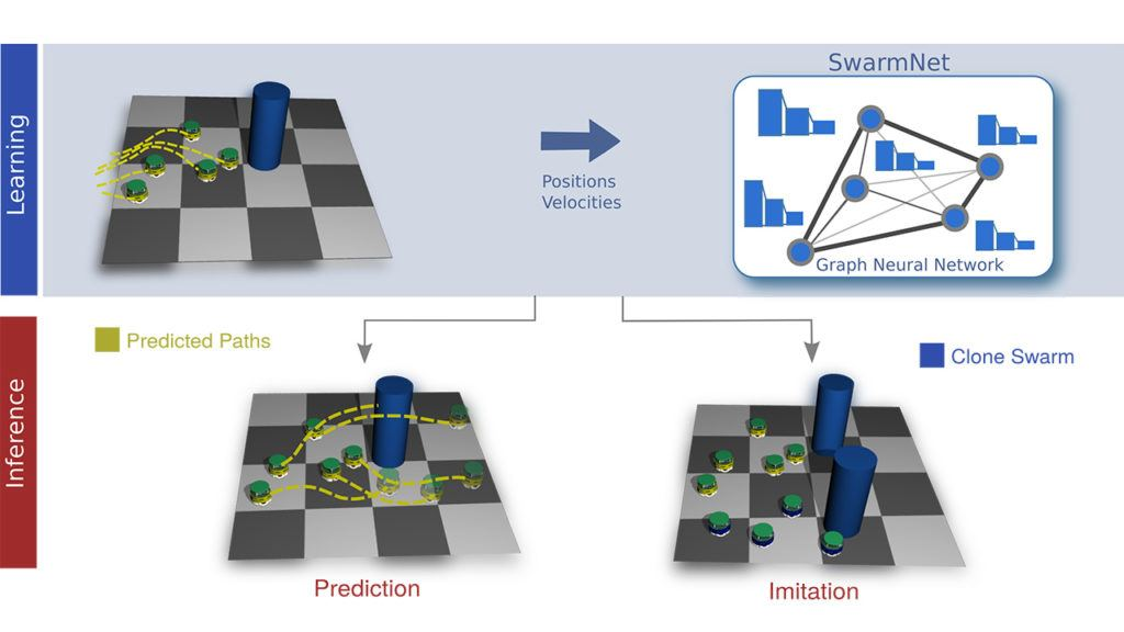 Clone Swarms: Learning to Predict and Control Multi-Robot Systems by Imitation
