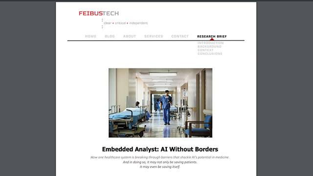 Embedded Analyst: AI without Borders