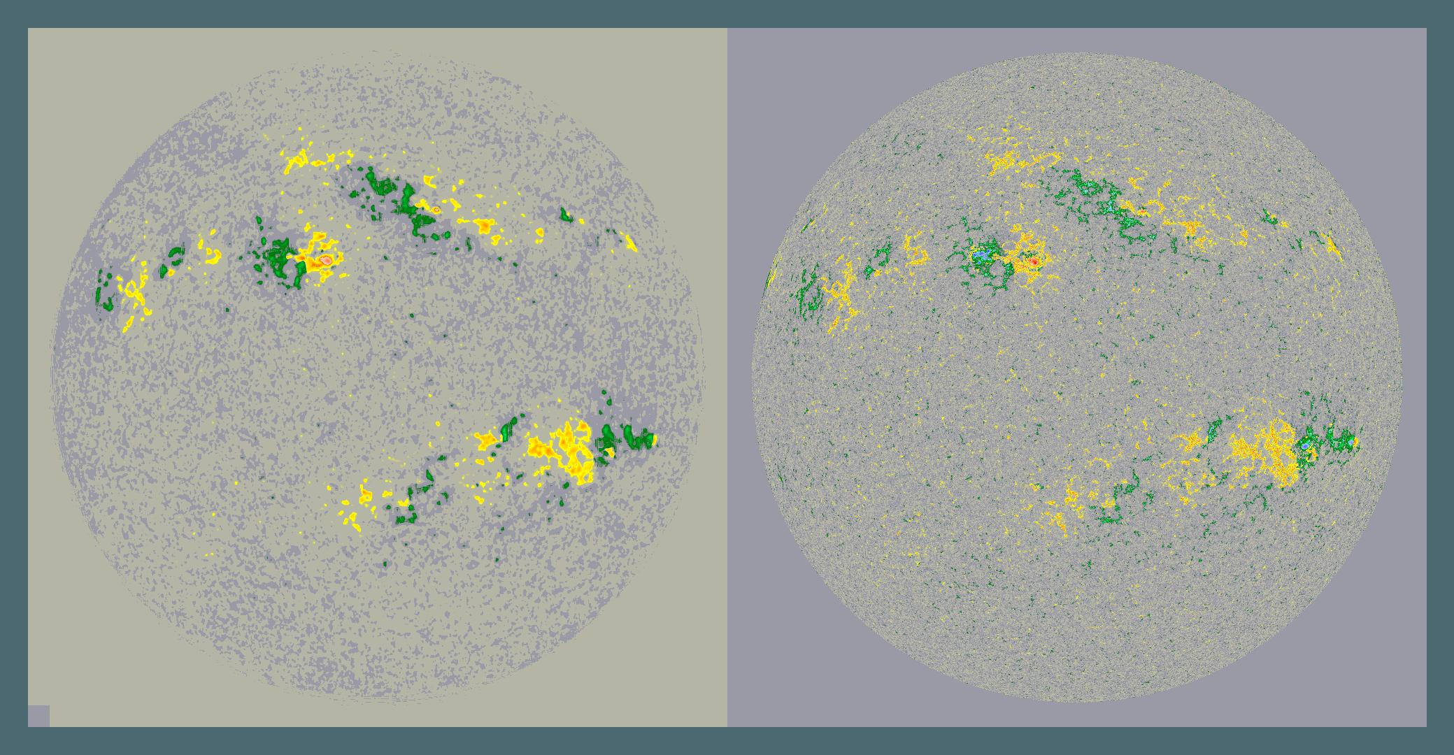 Figure 5: Result of a cross-instrument magnetogram image conversion