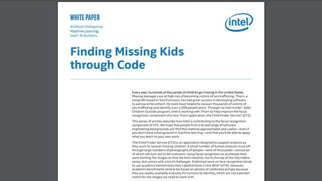 Finding Missing Kids through Code
