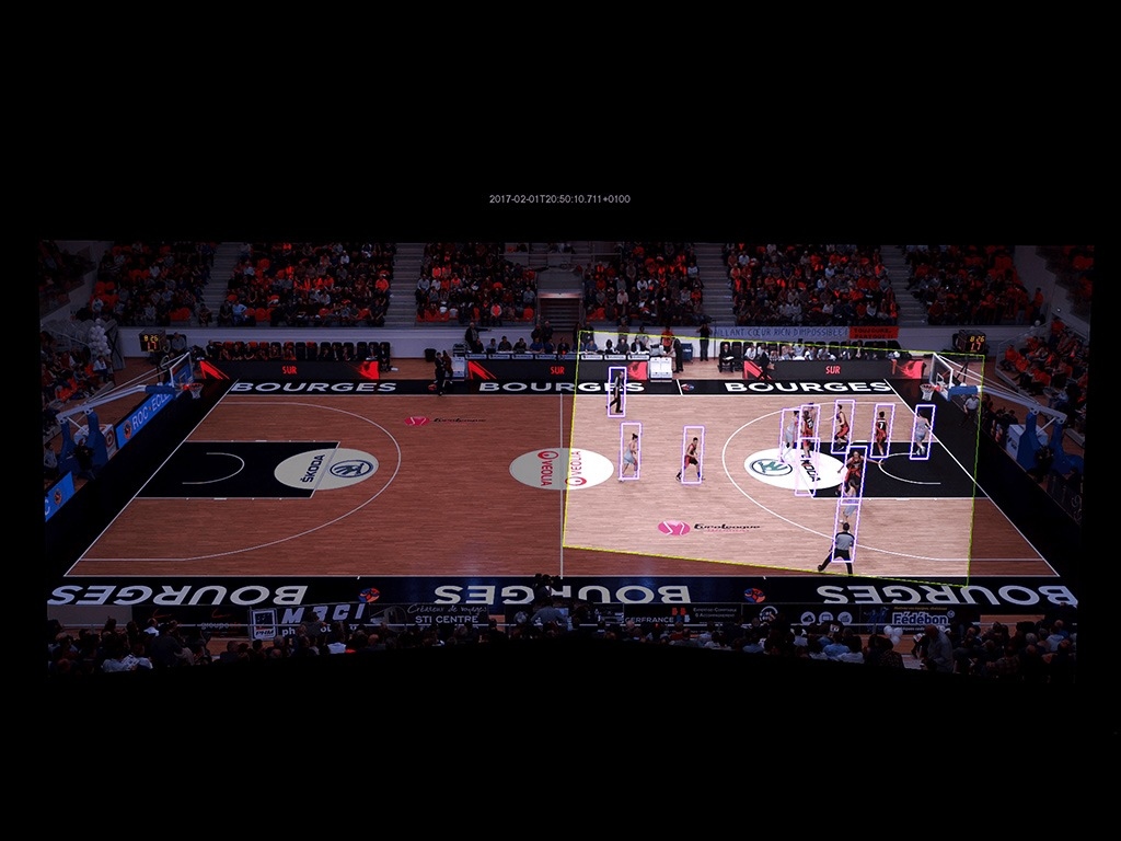 Figure 2: Keemotion tracks all the action on the court and uses their video stitching algorithm to deliver a video to the end user in under three seconds.