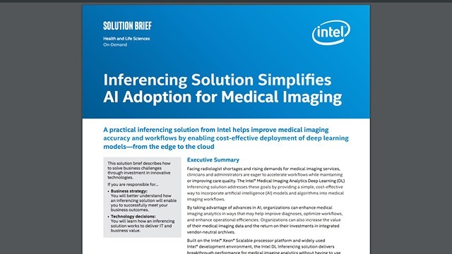 Inferencing Solution Simplifies AI Adoption for Medical Imaging