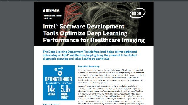 Intel Software Development Tools Optimize Deep Learning Performance for Healthcare Imaging