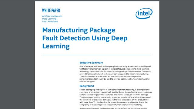Manufacturing Package Fault Detection Using Deep Learning
