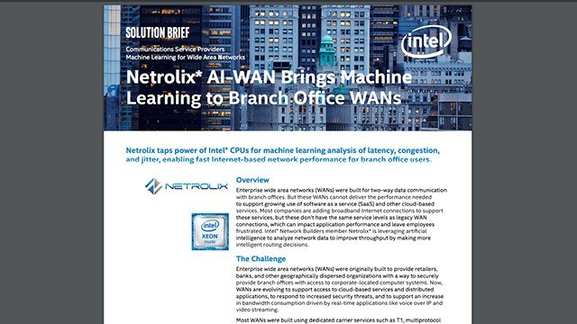Netrolix AI-WAN Brings Machine Learning to Branch Office WANs