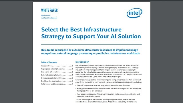 Select the Best Infrastructure Strategy to Support Your AI Support