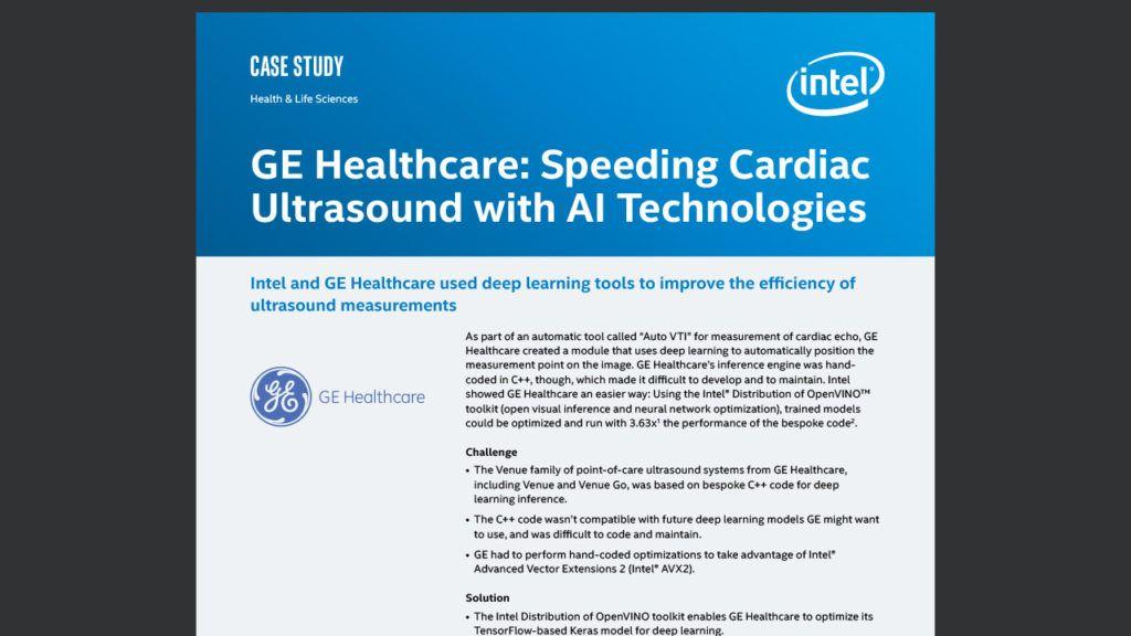 GE Healthcare: Speeding Cardiac Ultrasound with AI Technologies