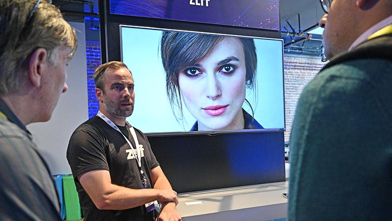 Ben Taylor, Chief Data Officer at Zeff, demonstrating deepfake detection on Intel Xeon Processors