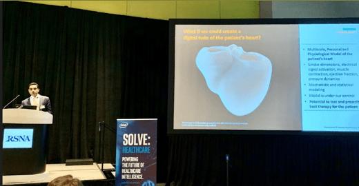 Figure 2: Puneet Sharma of Siemens Healthineers at the Intel SOLVE event