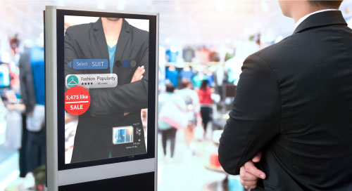 AI technology, digital display, retail analytics, computer vision