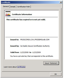 Expired GoDaddy vPro Provisioning Certificate in a SCCM Environment