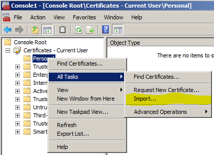 How to Install your Provisioning Certificate for SCS 8 - IT
