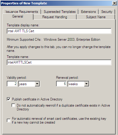 Why is my certificate template missing from intel scs console it on the security tab provide access to the template for the logon account of rcsserver in this example rcsserver is running under the network service yadclub Choice Image