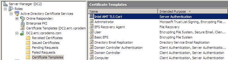 Why is my certificate template missing from intel scs console in the intel scs console select refresh cas templates via the pull down list select the target certificate template yelopaper Images