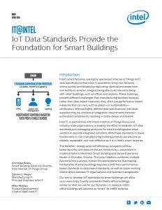 IoT Data Standards Provide the Foundation for Smart Buildings White Paper