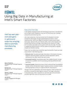 Use Big Data in Manufacturing White Paper