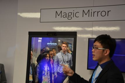 Mirium Agency's Magic Mirror enables customers to virtually try on outfits.