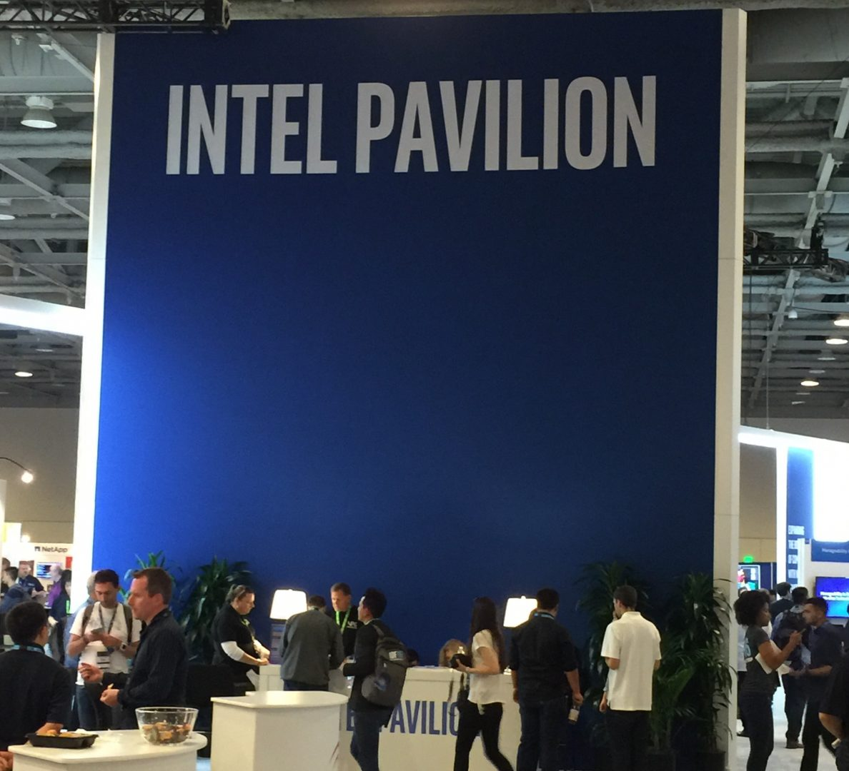 The Intel Pavilion front and center in the Technical Showcase