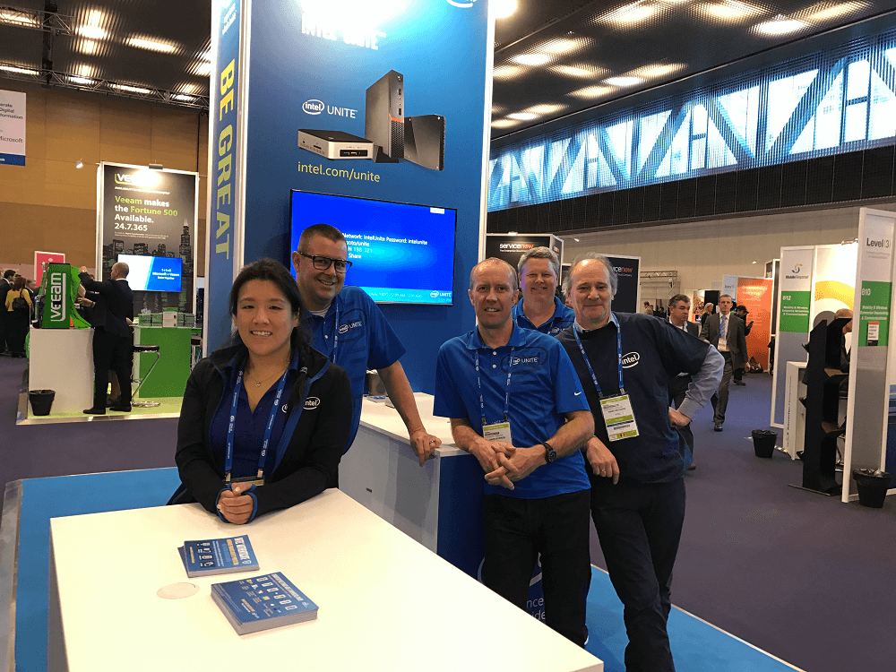 Intel employees at Intel booth at Gartner Symposium