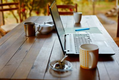 freelance or remote worker with laptop