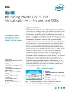 Increasing VM Densities and Performance in Private Cloud Hosts with an SSD