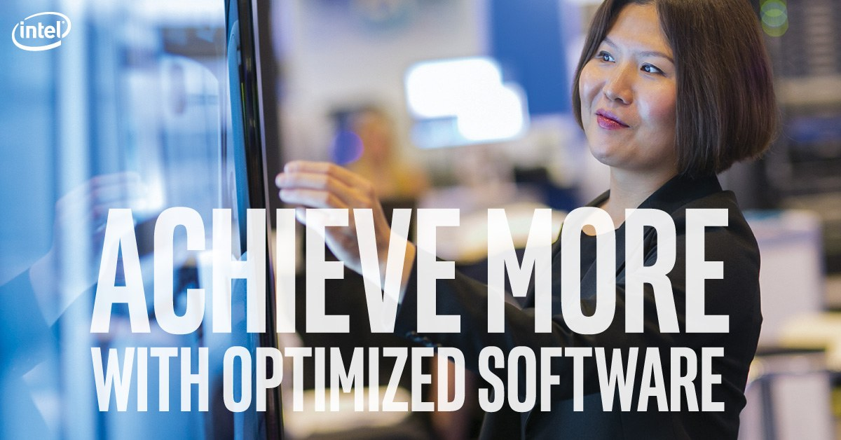 woman-touchscreen-presentation-achieve more with optimized software