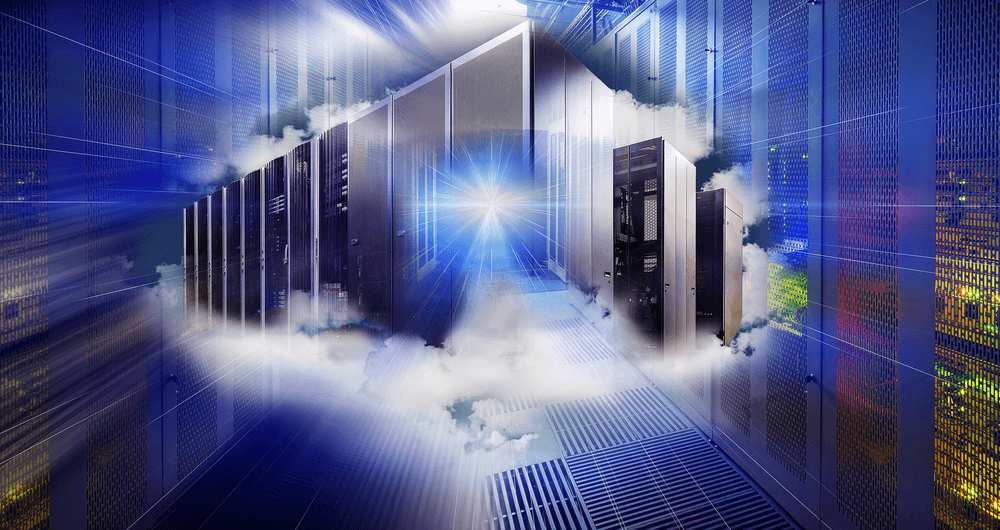 data center hyper-converged infrastructure abstract