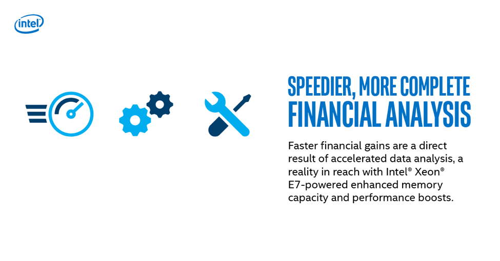 speedier financial analysis with Intel Xeon E7