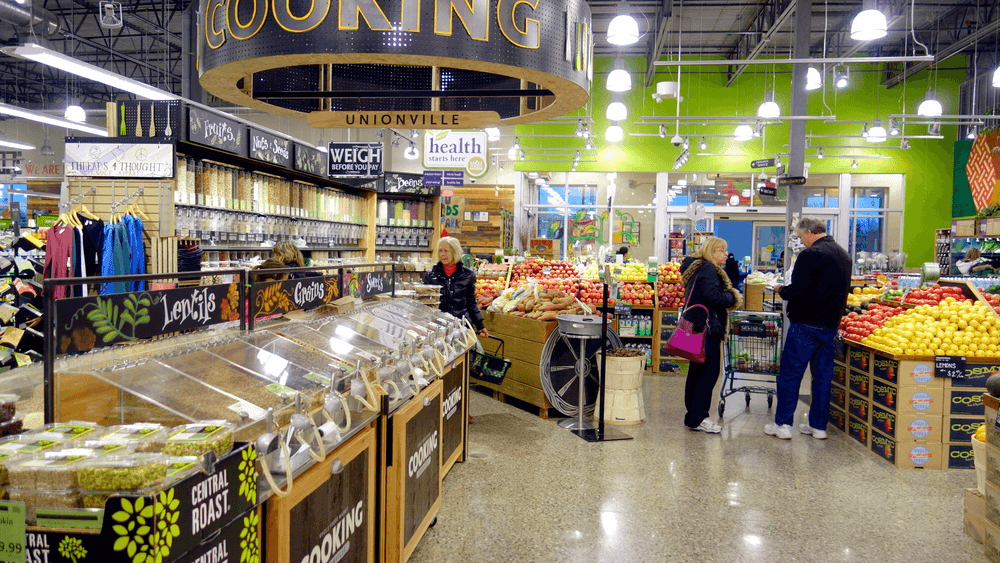 Inside retailer Whole Foods market purchased by Amazon