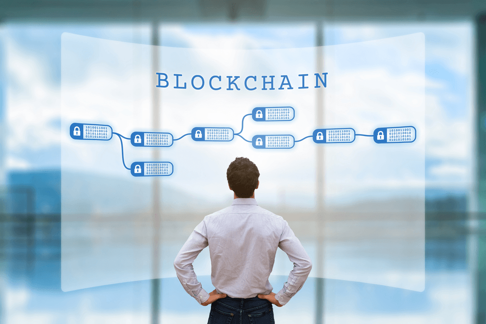 blockchain network concept