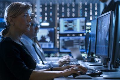 security analyst monitoring security systems