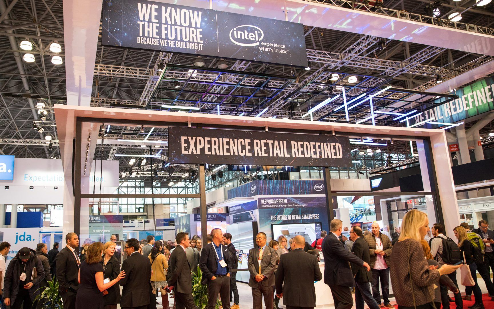 Retail technology was on display at Intel's NRF 2018 booth.