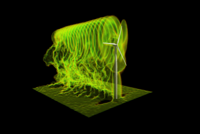 Stefano Leonardi, a wind energy researcher from UT Dallas, generates simulations on Stampede2