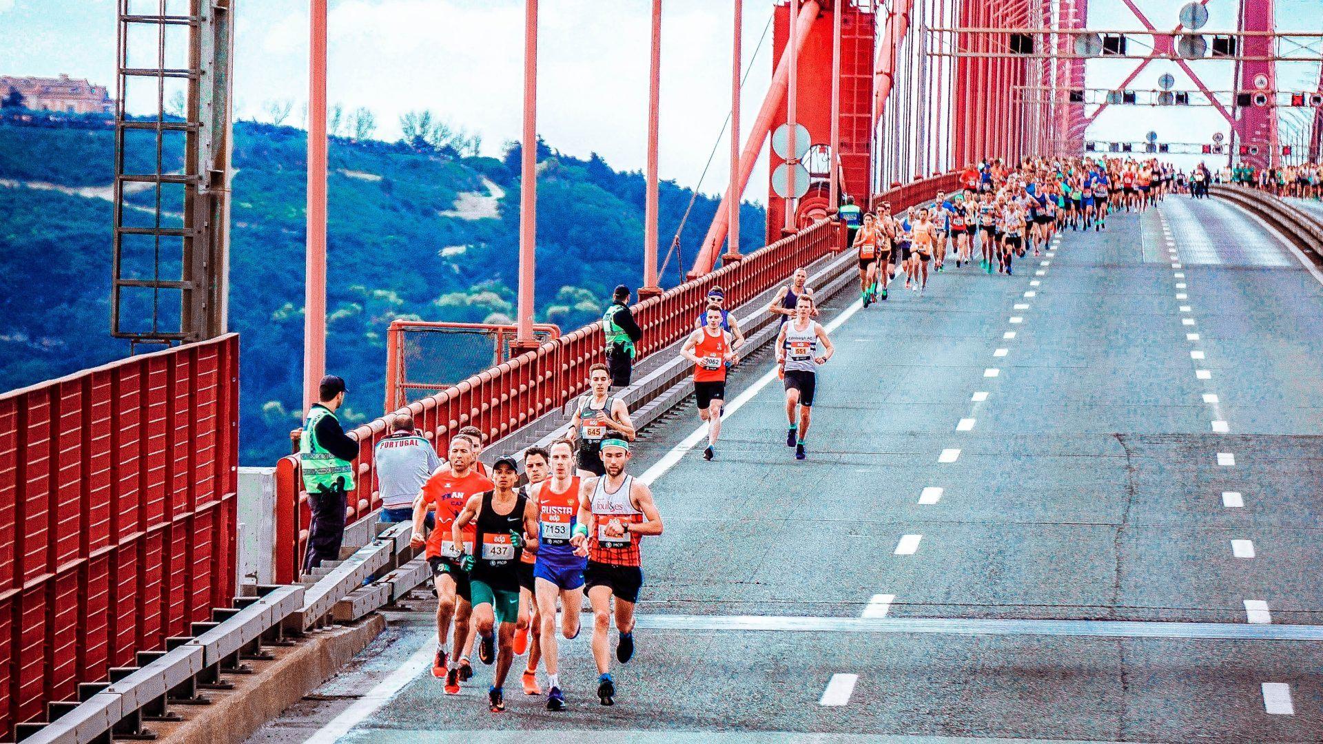 Running over bridge