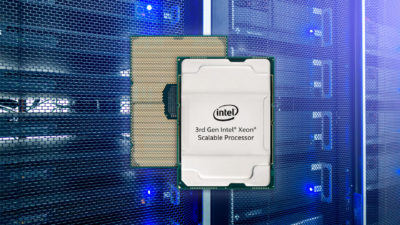 Mock up of 3rd Gen Intel Xeon Scalable chip