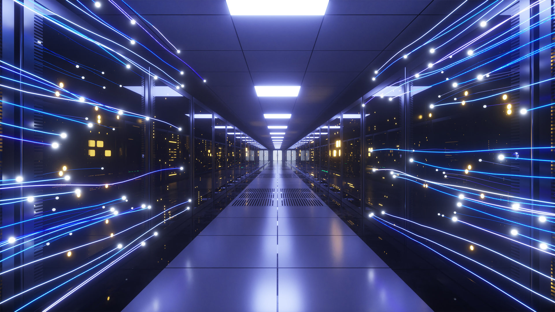 Photo of a data center network