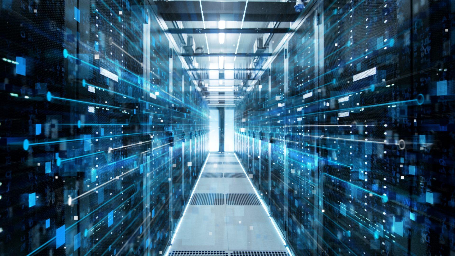 Image of a cloud data center