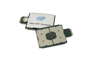 Intel Xeon Phi processor stacked front & back