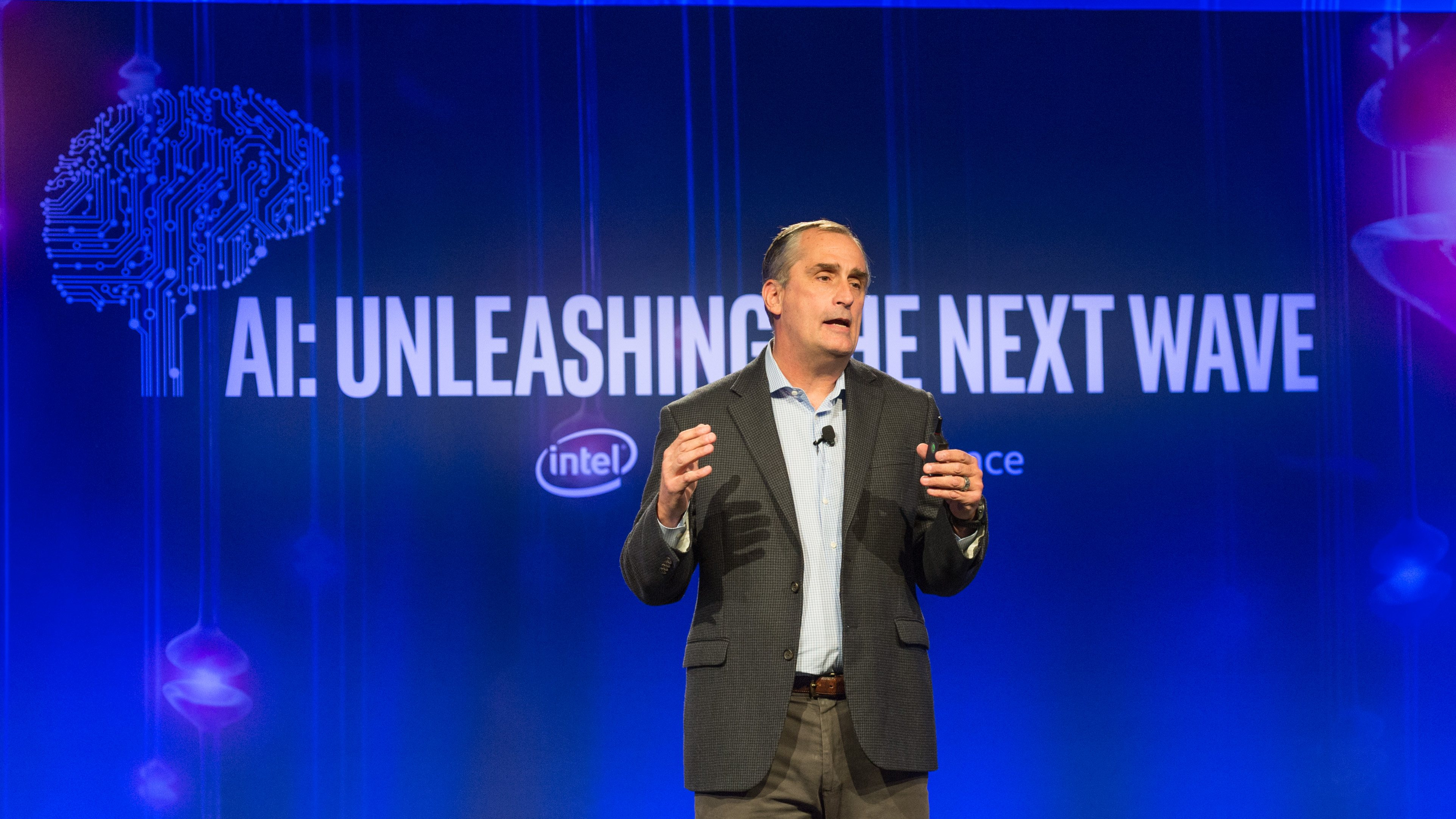 Intel CEO Brian Krzanich shares Intel's vision and strategy for artificial intelligence