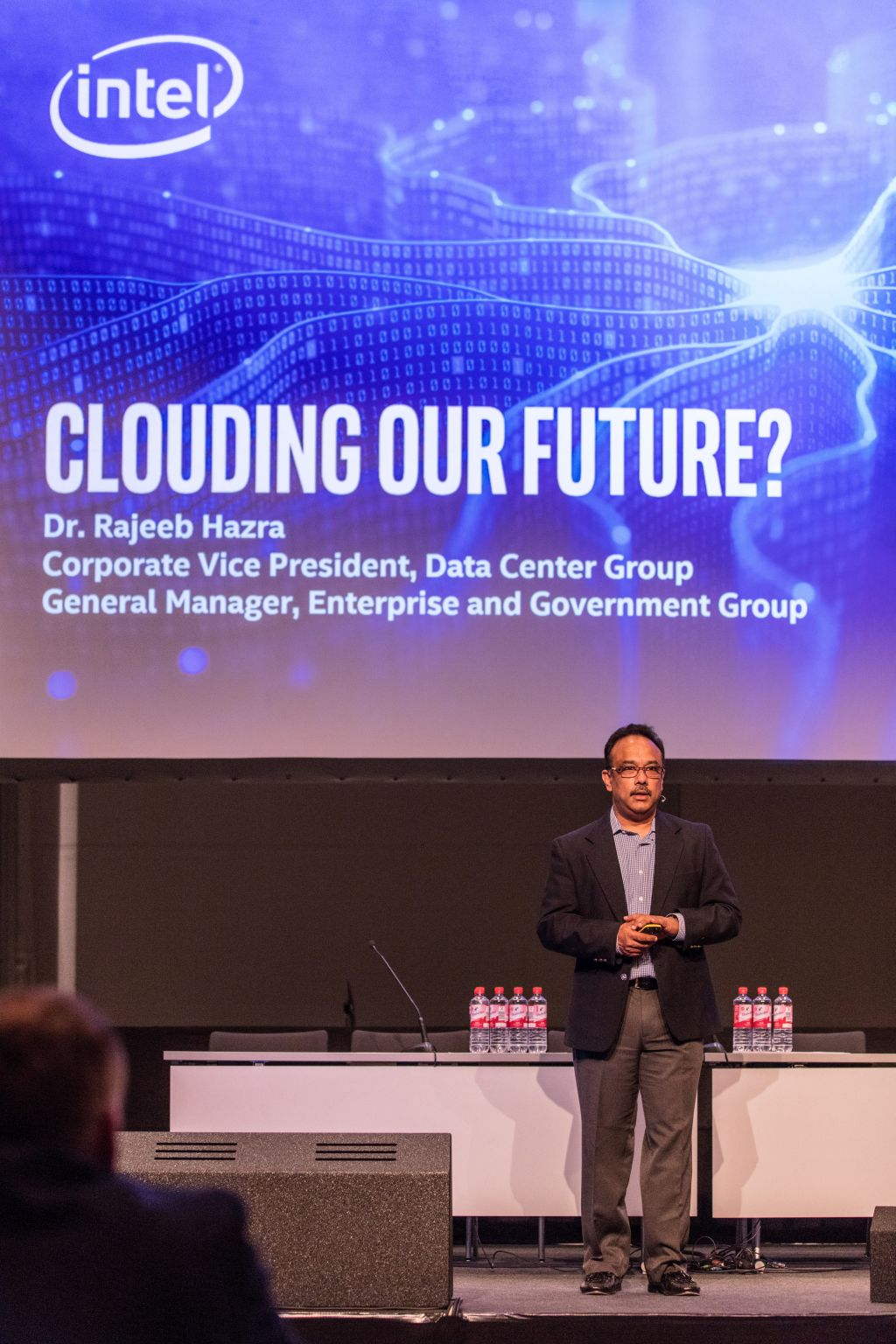 Raj Hazra, Intel's Corporate Vice President and General Manager, of the Enterprise and Government Group