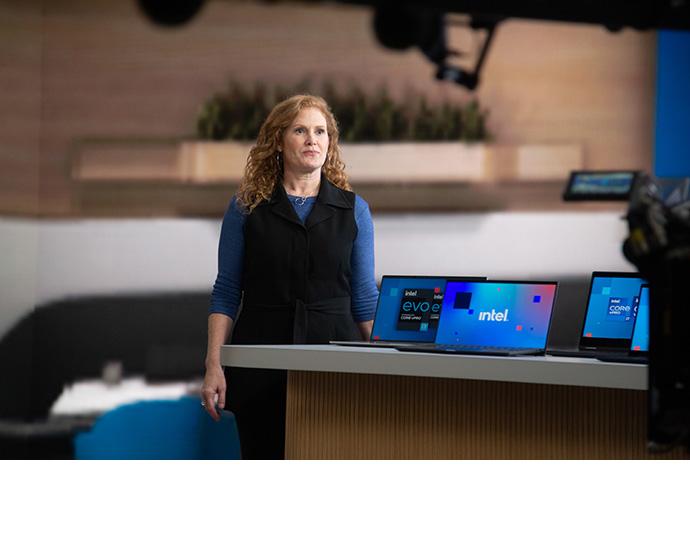 Intel Vice President Stephanie Hallford, who leads Business Clie