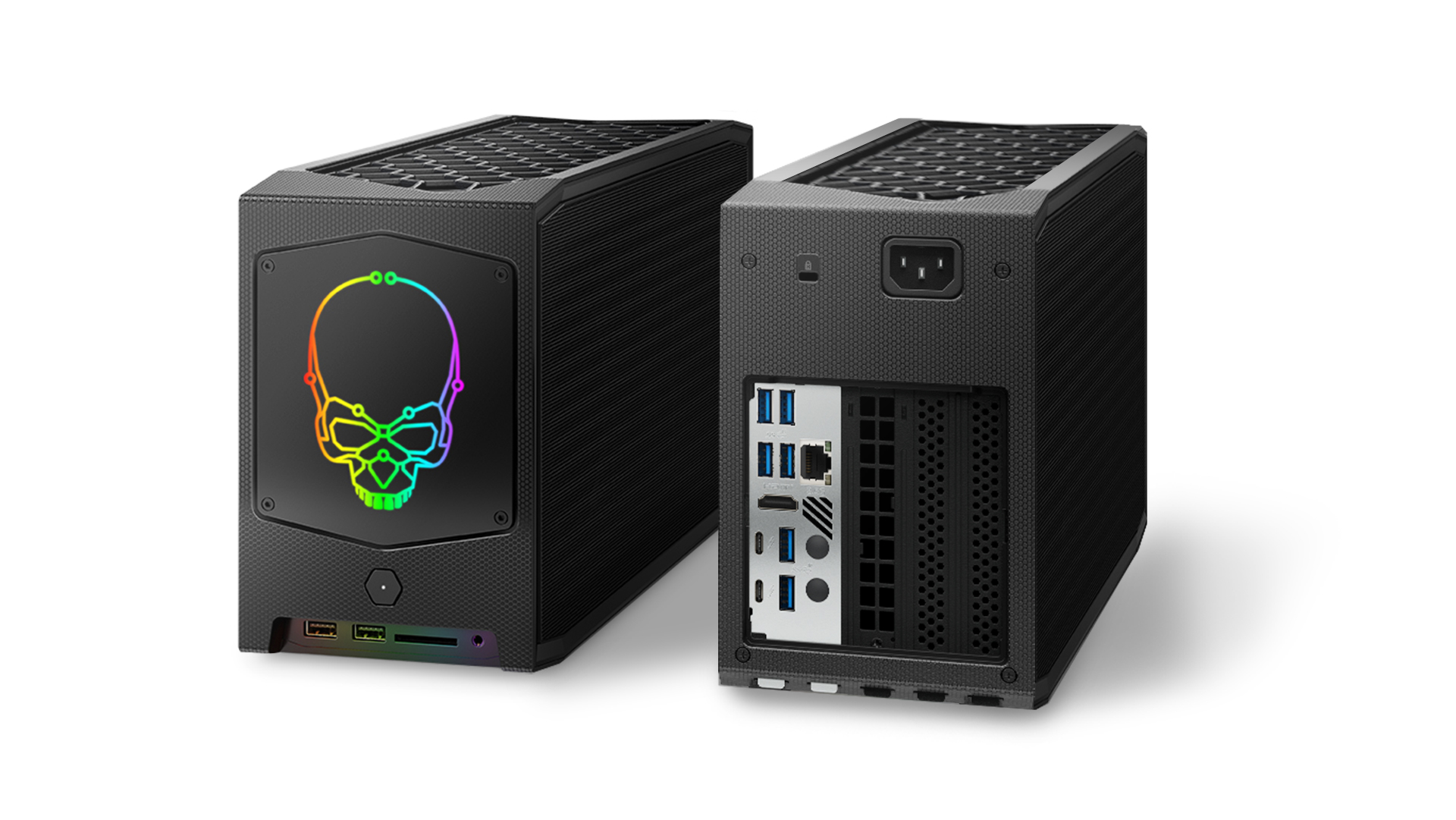NUC 11 Extreme Kit front and back